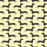 Dachshund opposite pattern Royalty Free Stock Photos