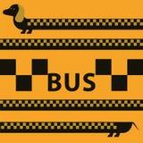 Dachshund2-taxi Fotos de Stock
