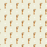 Dachshund and trace pattern Stock Image