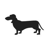 Dachshund vector Black Silhouette Stock Photography