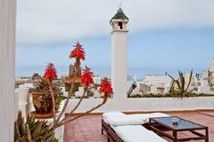 Dachspitze in Essaouira, Marokko Stockfoto