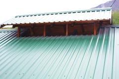 Dachspitze nach Reparatur Stockfotografie