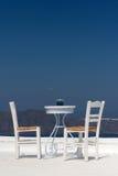 Dachspitze-Terrasse mit Ansicht Lizenzfreies Stockfoto