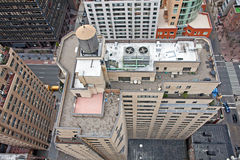 Dachspitze-Waßertürme auf NYC Gebäuden Lizenzfreies Stockfoto
