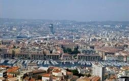 Dachspitzeansicht von Marseille. Stockfotos