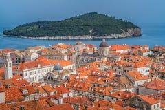 Dachspitzen alter Stadt Dubrovniks lizenzfreies stockfoto