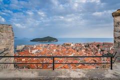Dachspitzen alter Stadt Dubrovniks lizenzfreie stockfotos
