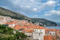 Dachspitzen alter Stadt Dubrovniks stockbild
