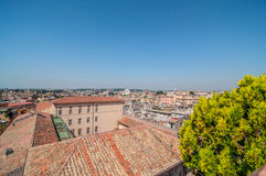 Dachspitzen-Ansicht von Rom stockbilder
