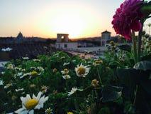 Dachspitzen-Ansicht von Rom Stockfotos
