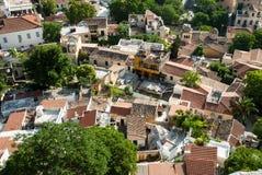 Dachspitzen in Athen, Griechenland Stockbild