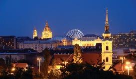 Dachspitzen in Budapest Stockbild