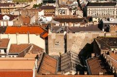 Dachspitzen in Budapest, Ungarn Stockfotografie