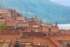 Dachspitzen in der alten Stadt dubrovnik kroatien Stockbild