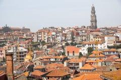 Dachspitzen der Stadt von Porto stockbilder