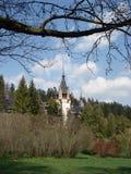 Dachspitzen des Peles Schlosses, Transylvanien Stockbilder