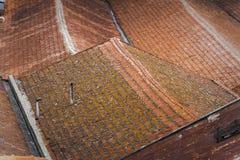 Dachspitzen, die Formen an O Porto, Portugal bilden Stockfoto