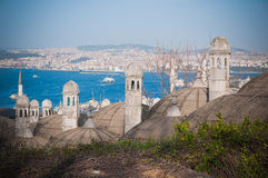 Dachspitzen in Istanbul Lizenzfreie Stockfotos