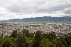 Dachspitzen - Lijiang-Stadt - China stockbilder