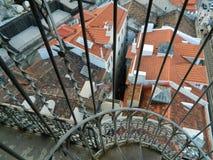 Dachspitzen in Lissabon Stockbilder