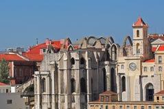 Dachspitzen in Lissabon, Portugal Lizenzfreie Stockbilder