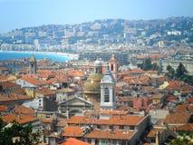 Dachspitzen in Nizza, Frankreich Lizenzfreies Stockbild
