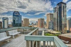 Dachspitzen-Patio in im Stadtzentrum gelegenem Seattle, WA Lizenzfreie Stockfotografie
