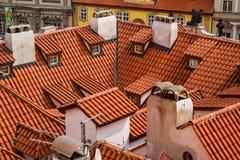 Dachspitzen in Prag Lizenzfreies Stockbild