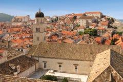 dachspitzen Rücksortierung Makarska dubrovnik kroatien Stockfotografie