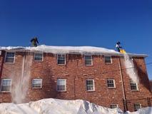 Dachspitzen-Schnee Stockfotos