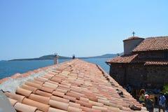 Dachspitzen sehen vom Heiligen Anastacia Island an lizenzfreie stockfotos