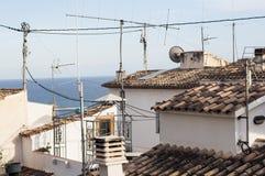 Dachspitzen in Spanien-Mittelmeerküste Stockbild