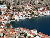 Dachspitzen um den Hafen, Griechenland Lizenzfreies Stockfoto