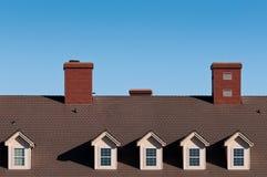 Dachspitzen und Kamine Lizenzfreies Stockbild