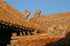 Dachspitzen in verbotener Stadt, Peking Lizenzfreies Stockbild