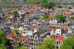 Dachspitzen von Amsterdam Stockfoto