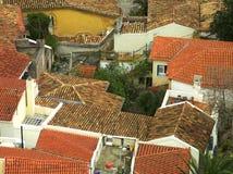 Dachspitzen von Athen Stockfotografie