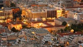 Dachspitzen von Athen, Griechenland Stockfotos