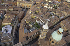 Dachspitzen von Bologna Stockfoto