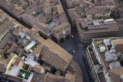 Dachspitzen von Bologna Lizenzfreie Stockfotos