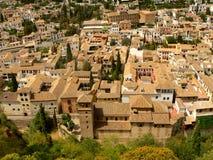 Dachspitzen von Granada Stockfotos