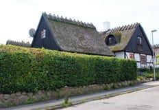 Dachspitzen von Häusern Stockbild