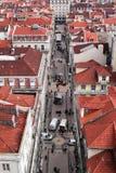 Dachspitzen von Lissabon, Portugal. Stockfotografie