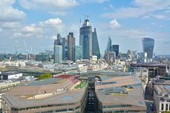 Dachspitzen von London lizenzfreie stockfotografie