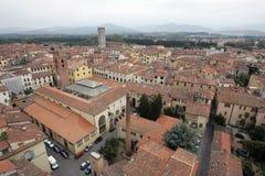 Dachspitzen von Lucca lizenzfreie stockbilder