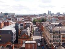 Dachspitzen von Manchester, England lizenzfreie stockbilder
