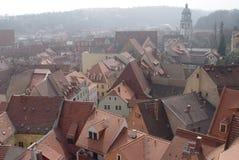 Dachspitzen von Meissen stockfotografie