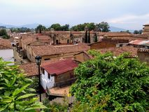 Dachspitzen von Patzcuaro Mexiko lizenzfreie stockfotografie