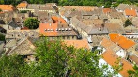 Dachspitzen von Petrovaradin Stockbild