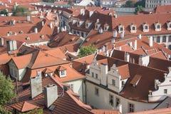 Dachspitzen von Prag Stockfotografie